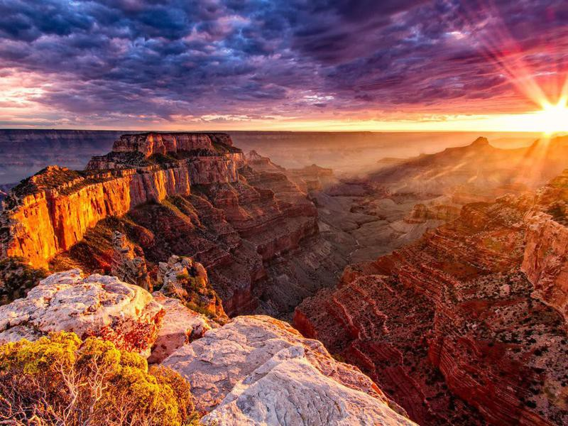 Sunrise over Grand Canyon National Park