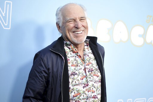 """Jimmy Buffett at the Los Angeles Premiere of """"The Beach Bum"""" in 2019"""