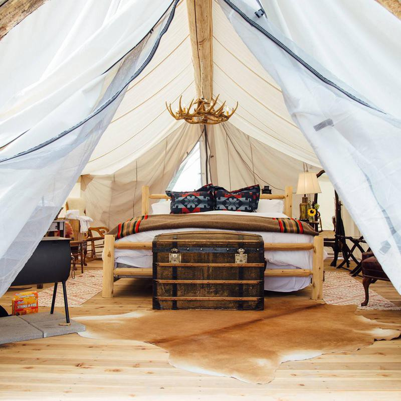 Glamping tent in Montana