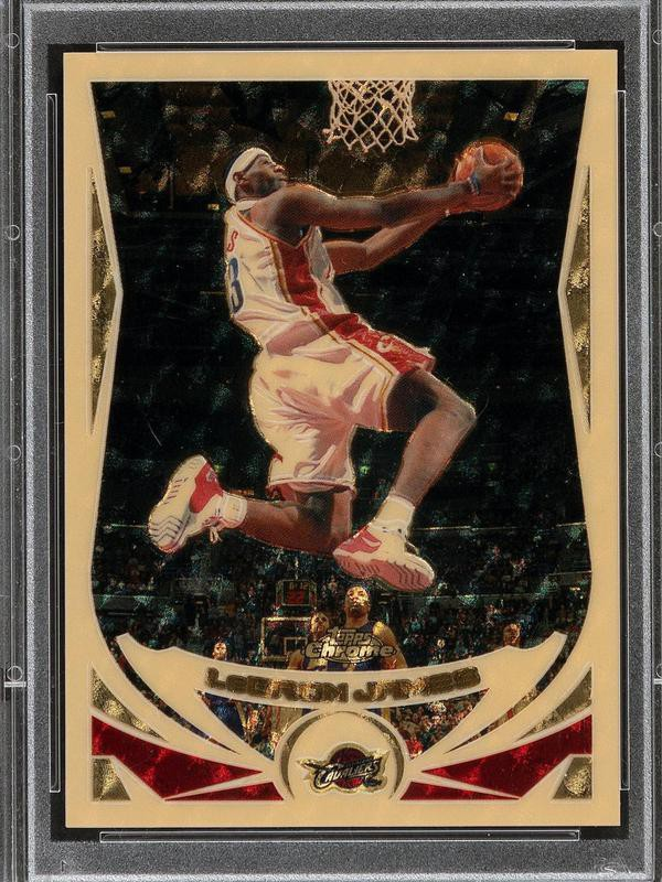 LeBron James 2004 Topps Chrome Superfractor card