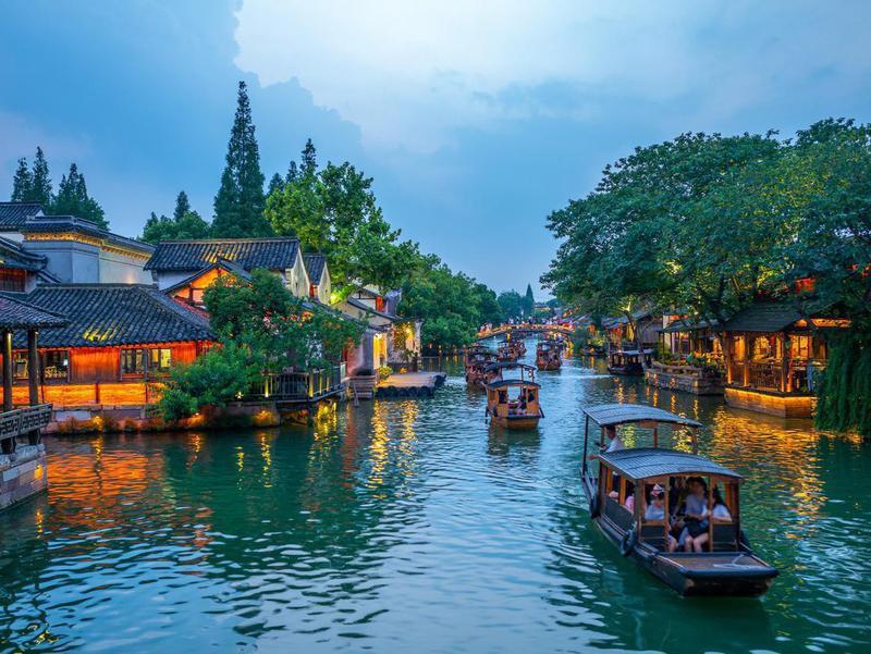 Wuzhen on the Yangtze River in China