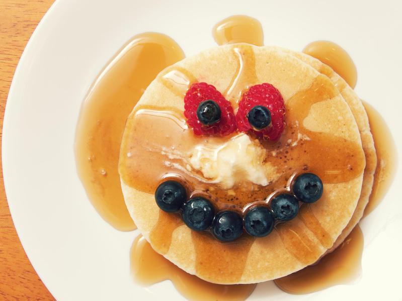 happy face pancakes