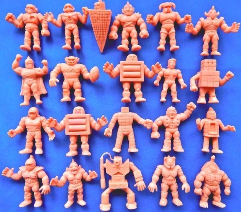 M.U.S.C.L.E. style figures laid out