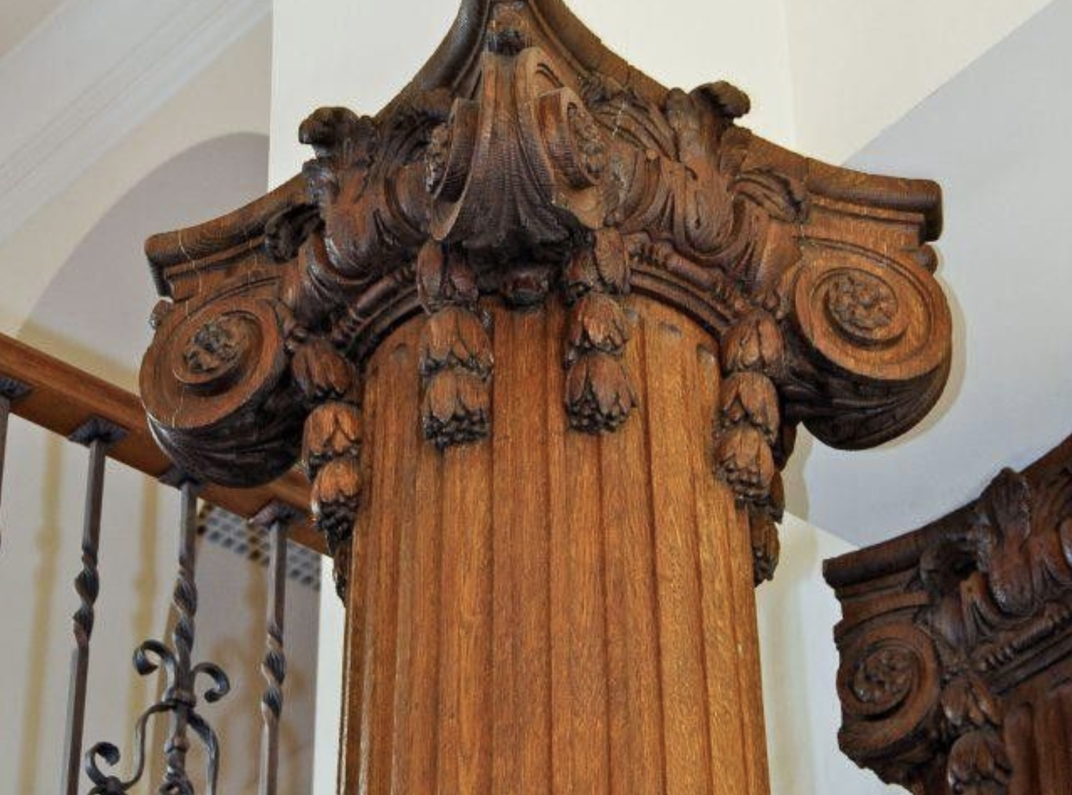 hand-carved capitals