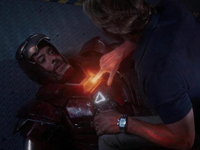 "Robert Downey, Jr. as Iron Man in ""Iron Man 3."""