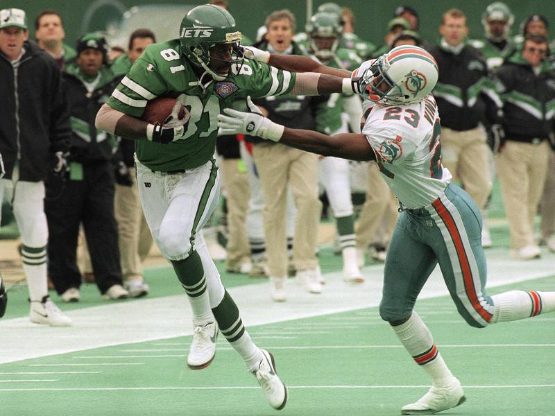 New York Jets Art Monk tries to keep Troy Vincent at arms length