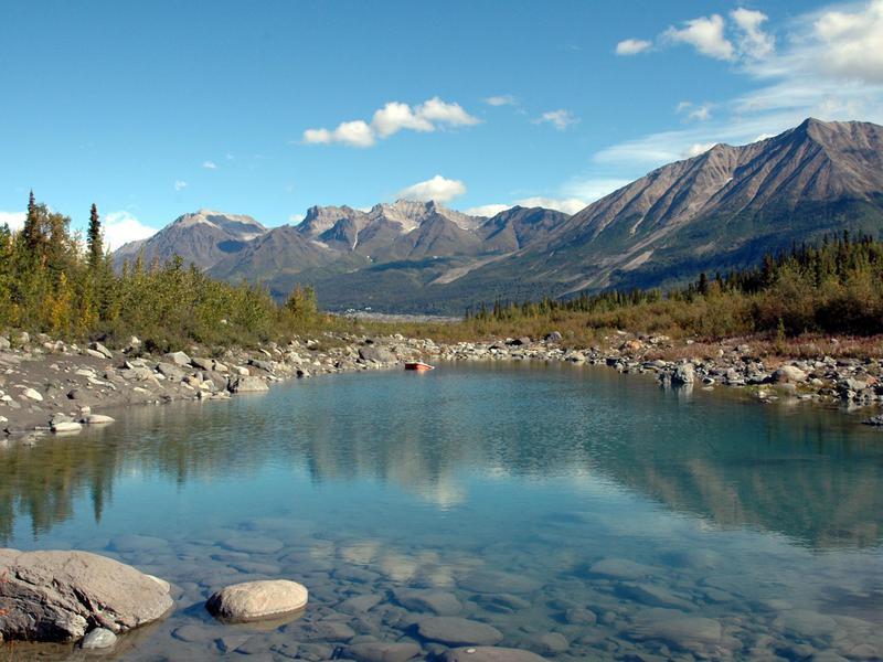 Kennicott River in Wrangell St Elias National Park