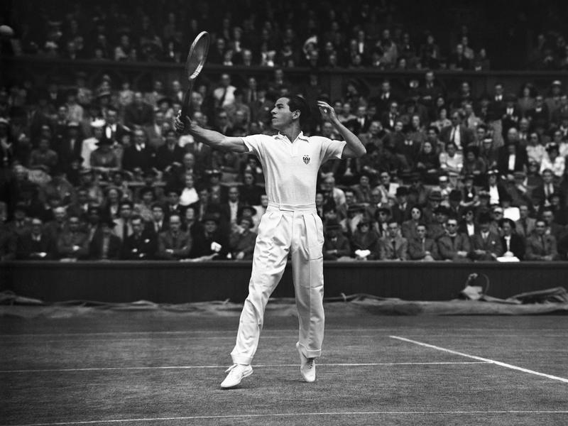 Bobby Riggs at Wimbledon 1939