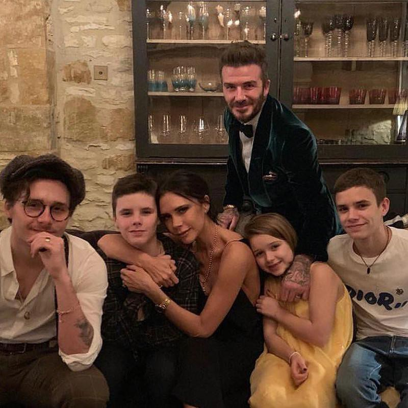 Victoria Beckham and Son Romeo