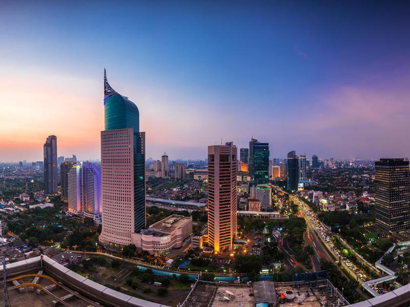 Jakarta Skyline at dawn