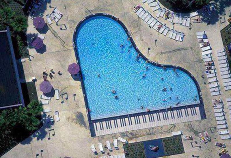 Piano pool at Disney's All-Star Music Resort