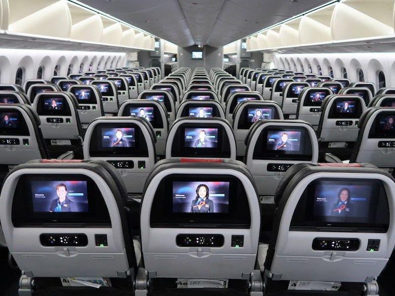 Boeing Dreamliner interior