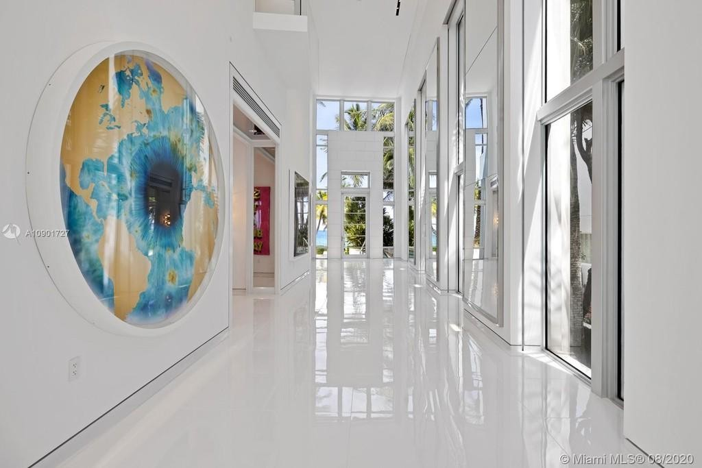 Hallway in Tommy Hilfiger's house