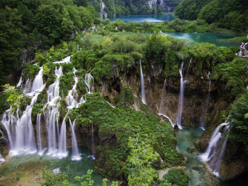 Plitvice Main Waterfallsin Spring
