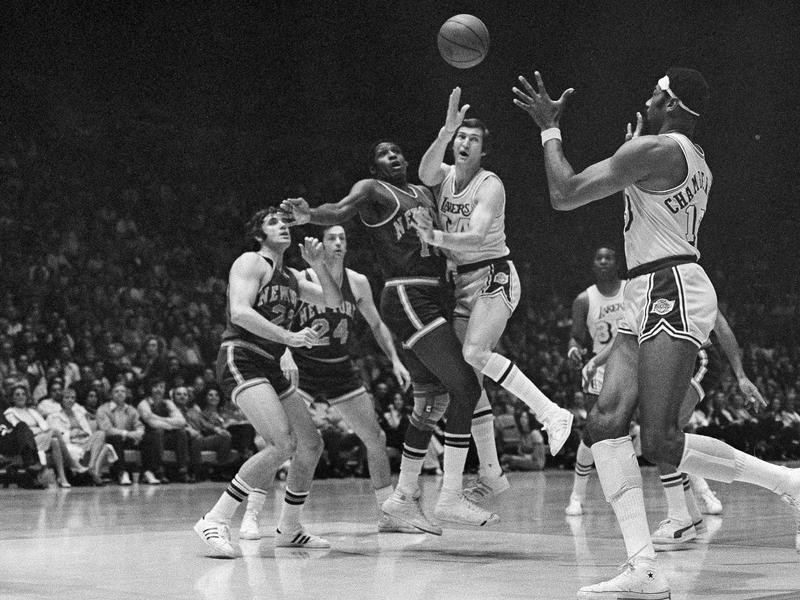 Jerry West and Wilt Chamberlain