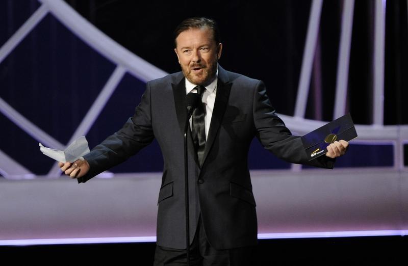 Ricky Gervais presents at Primetime Emmy Awards