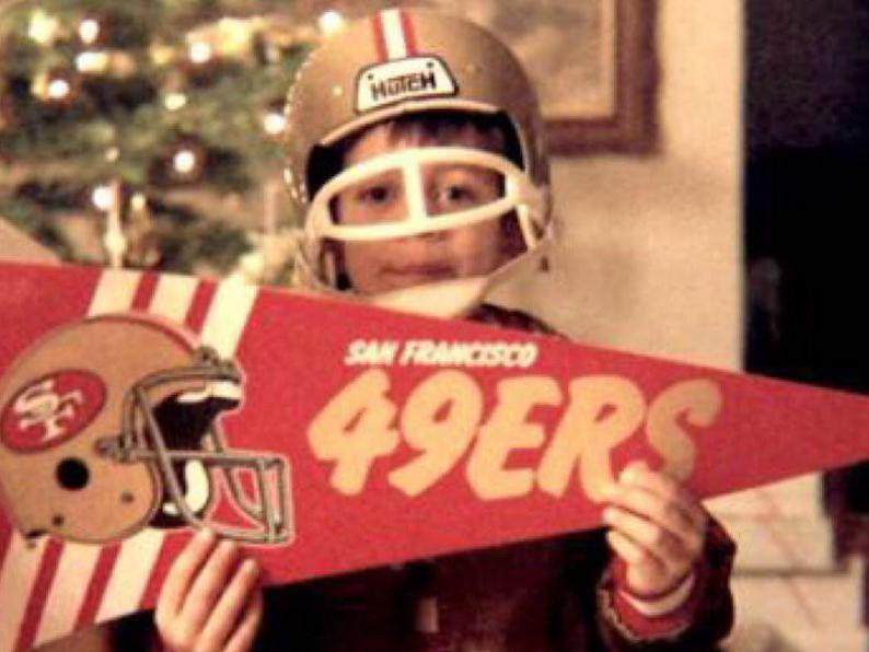 Aaron Rodgers, a young 49ers fan