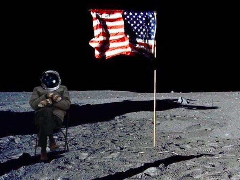 Bernie Sanders on the moon