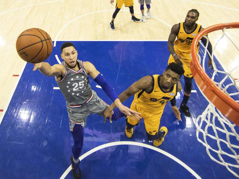 Ben Simmons and Donovan Mitchell