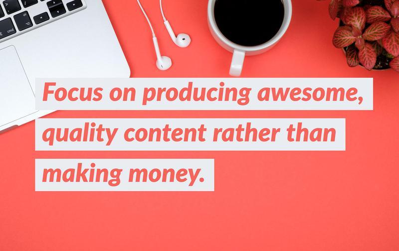 Quality blogging content
