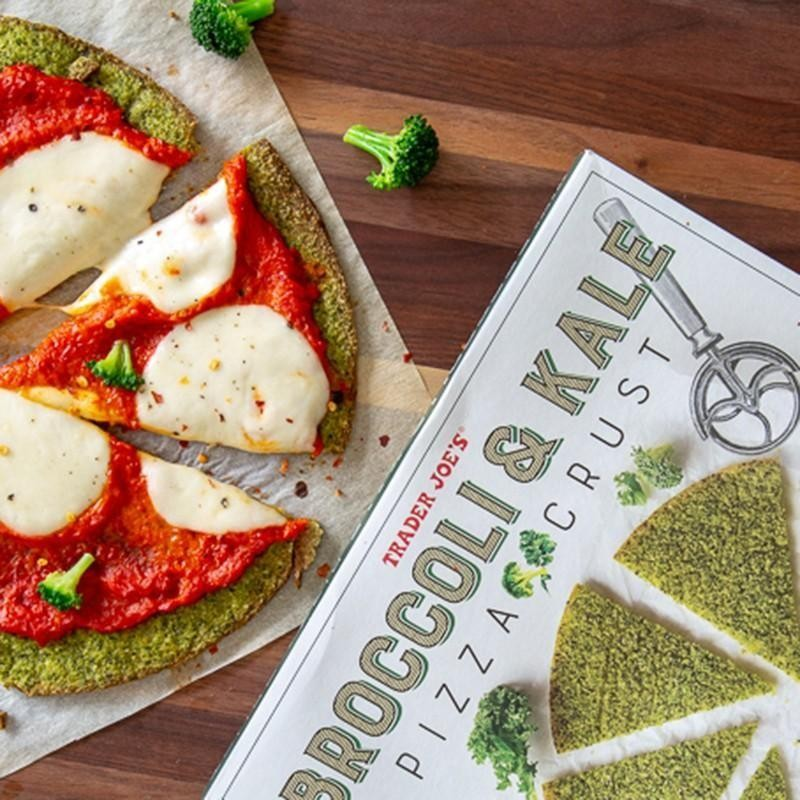 Broccoli and Kale Pizza Crust