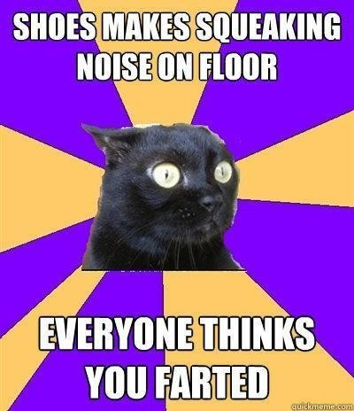 Cat worried about sound she made