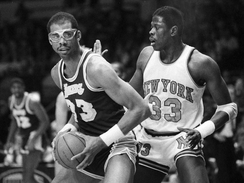 Patrick Ewing and Kareem Abdul-Jabbar