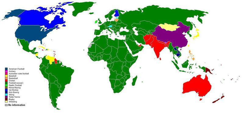 World's most popular sports