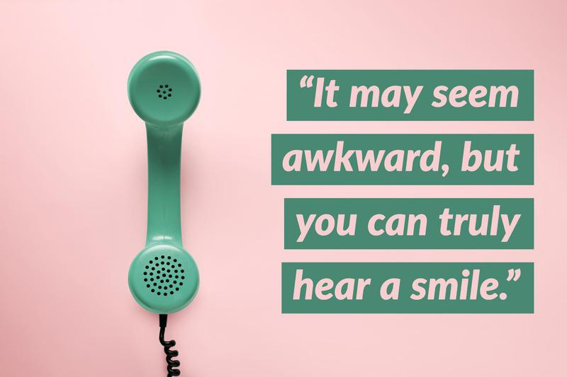 Phone interview smile