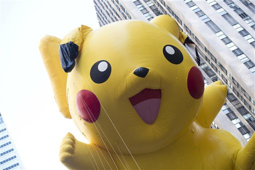 Pikachu float in the 2012 Thanksgiving Day Parade