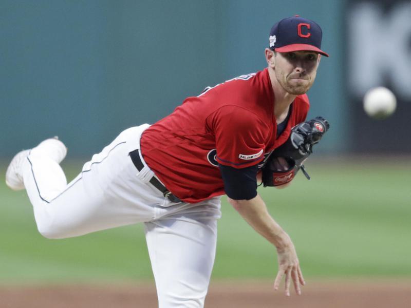 Cleveland Indians starting pitcher Shane Bieber