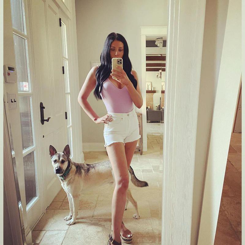Dog photobombing mirror selfie