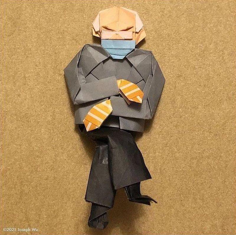 Bernie Sanders origami