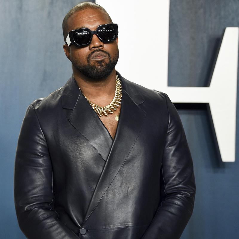 Kanye at the Vanity Fair Oscar Party in 2020