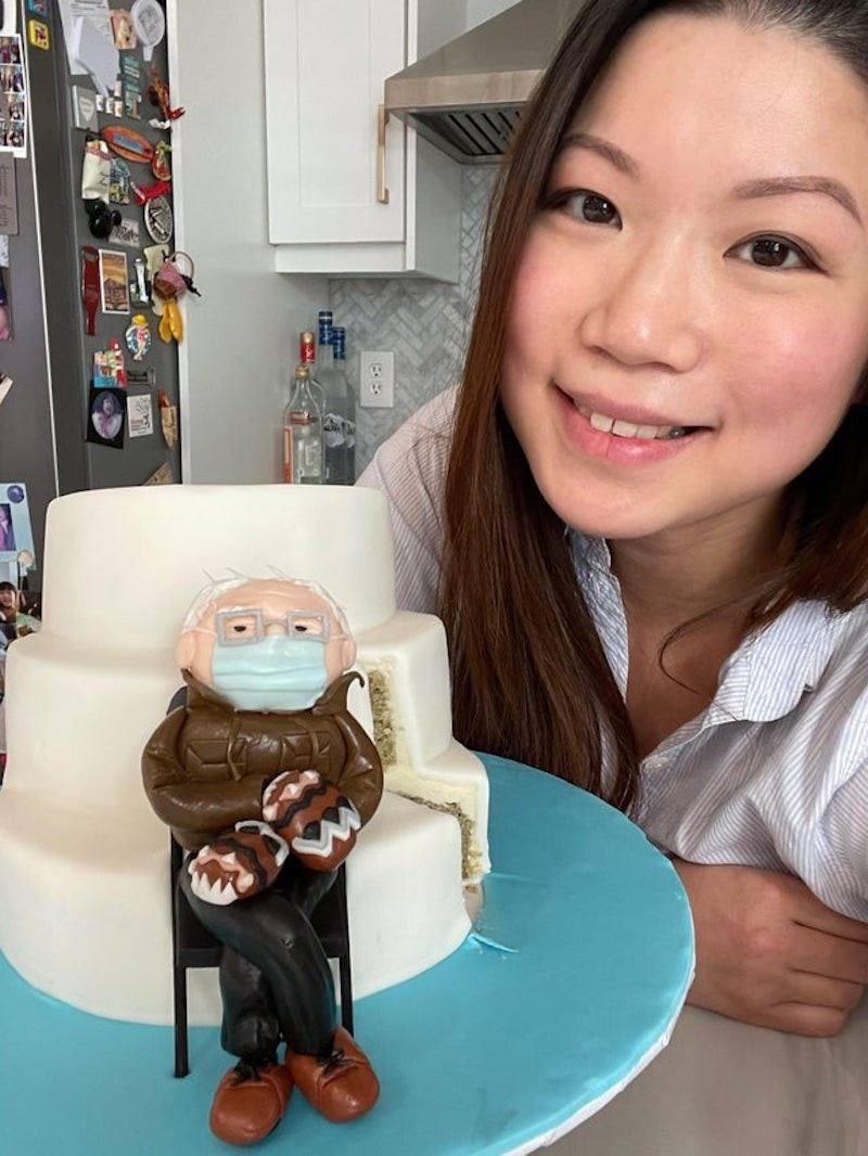 Bernie Sanders cake
