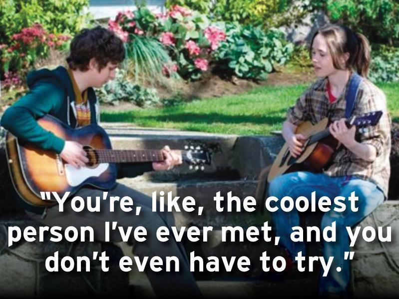 Michael Cera and Ellen Page in Juno (2007)