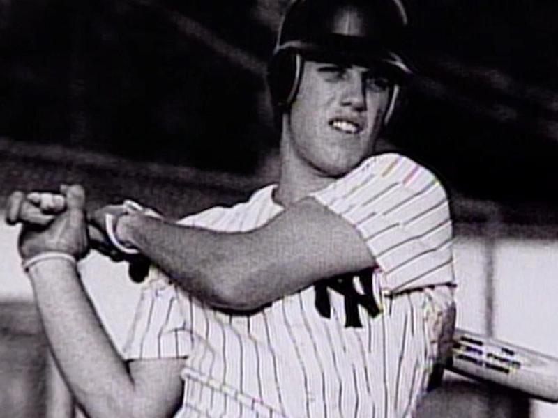 John Elway in a New York Yankees uniform