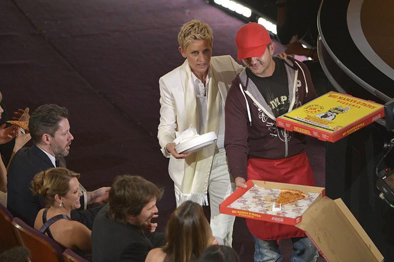 Ellen DeGeneres pizza delivery