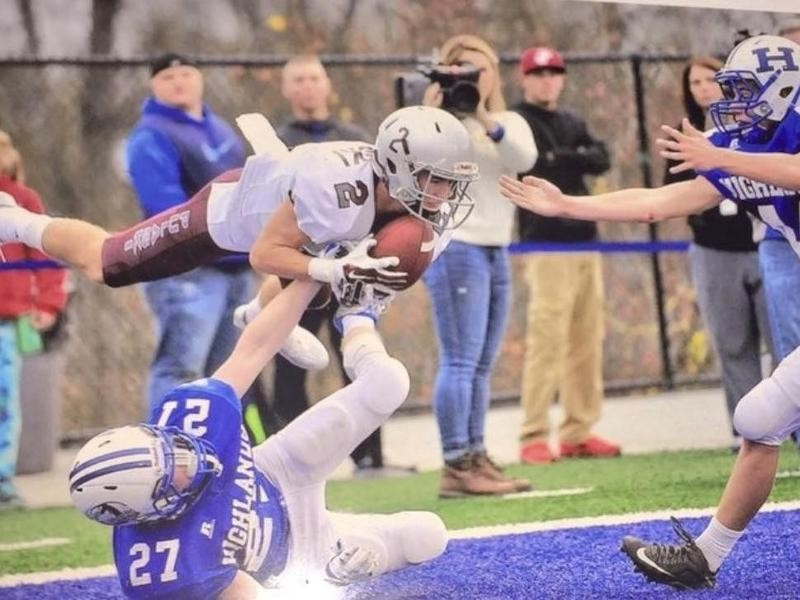 Pulaski County High wide receiver Jake Johnson