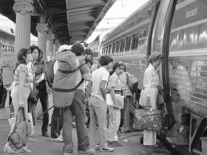 Amtrak station in 1981