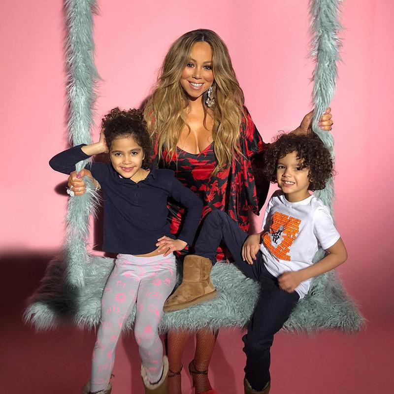 Mariah Carey and her children