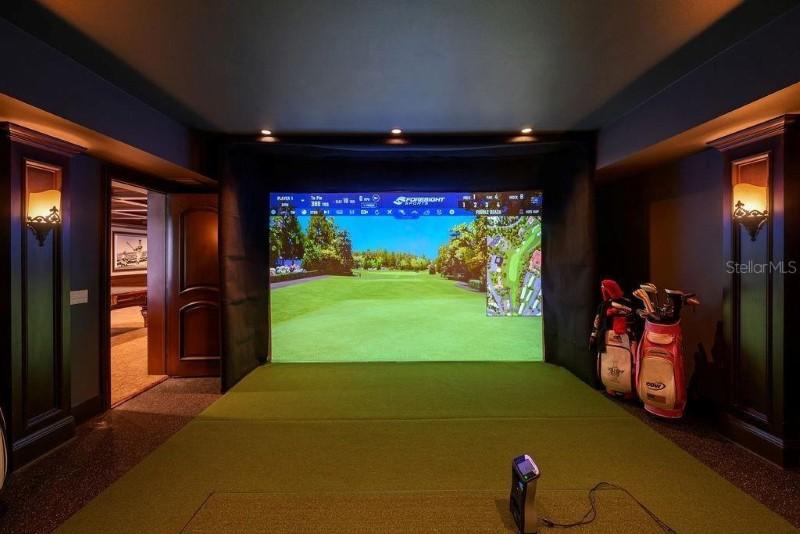 Paula Creamer's virtual golf room
