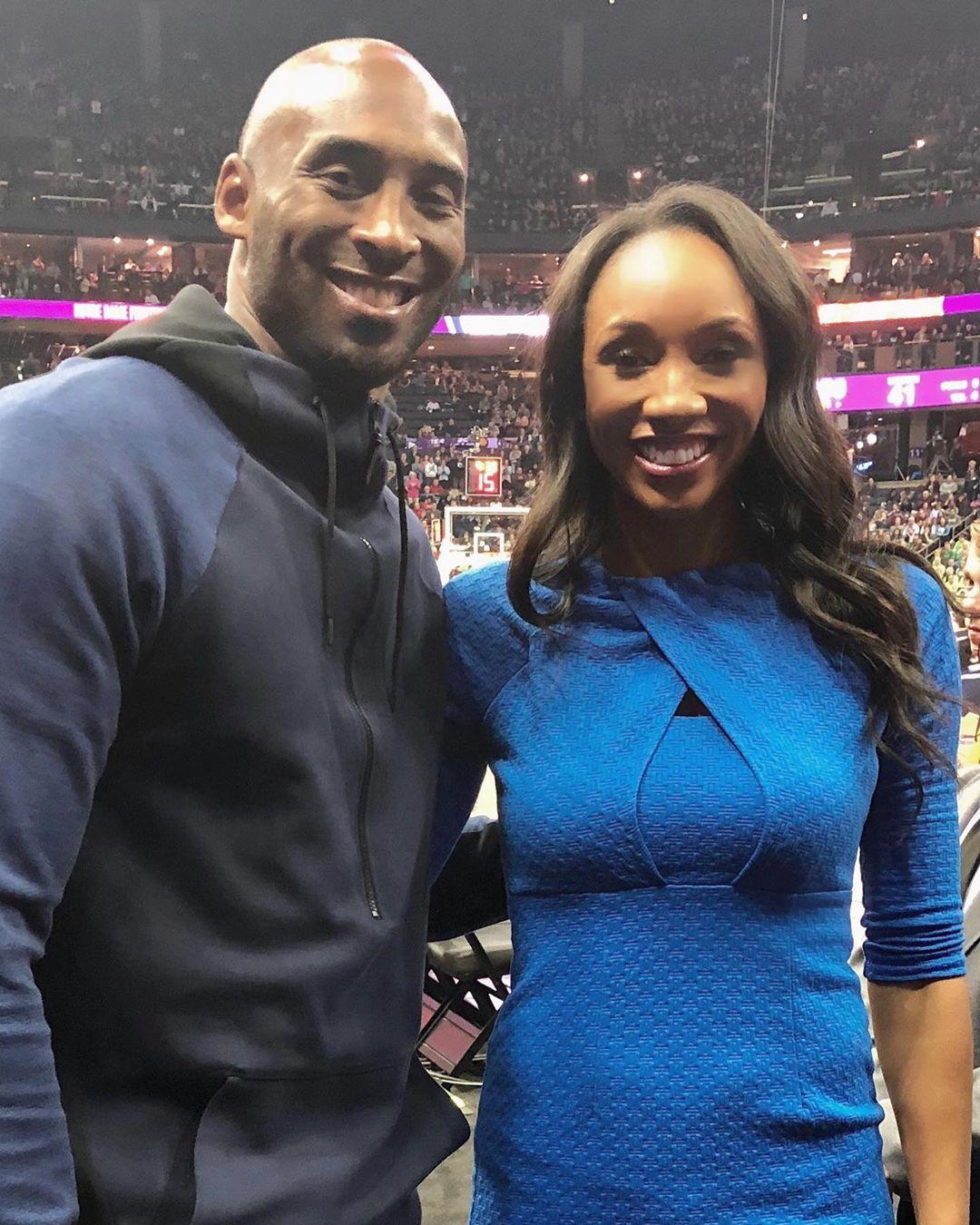 Kobe Bryant and Maria Taylor