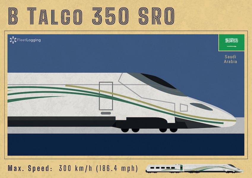 B Talgo 350 SRO Saudi Arabia Haramain train