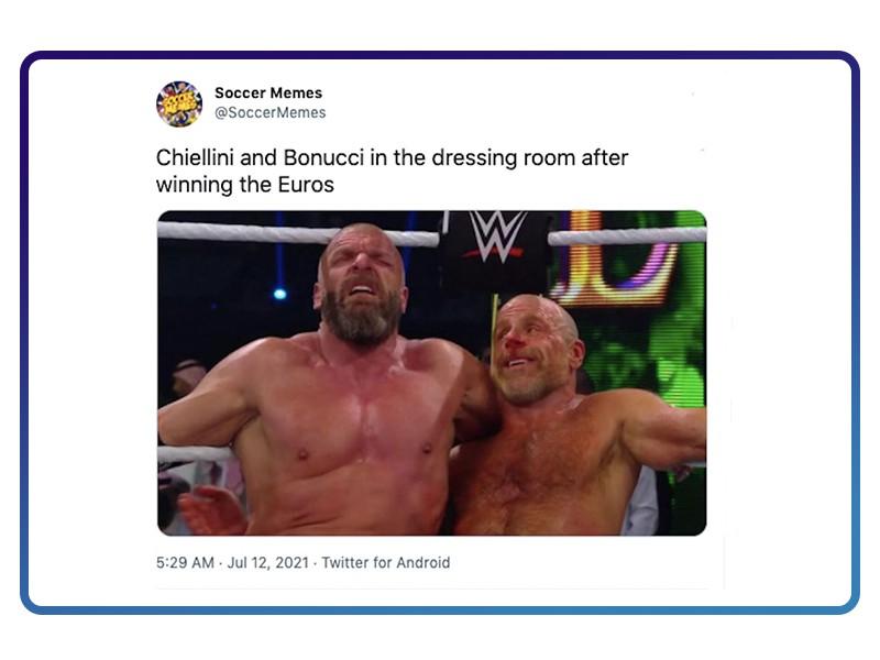 Chiellini and Bonucci compared to WWE fighters