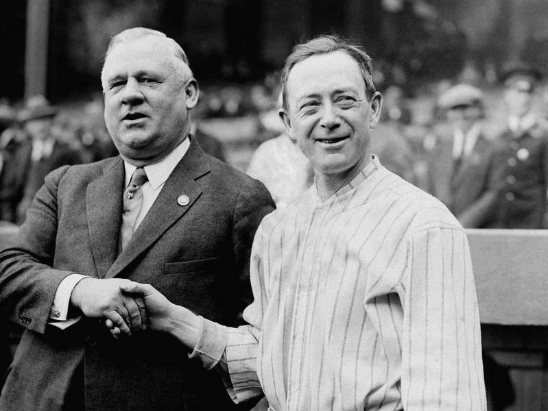 Miller Huggins and John McGraw