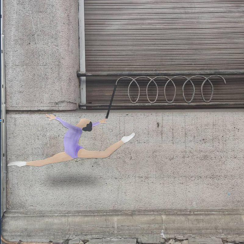 Gymnast urban art