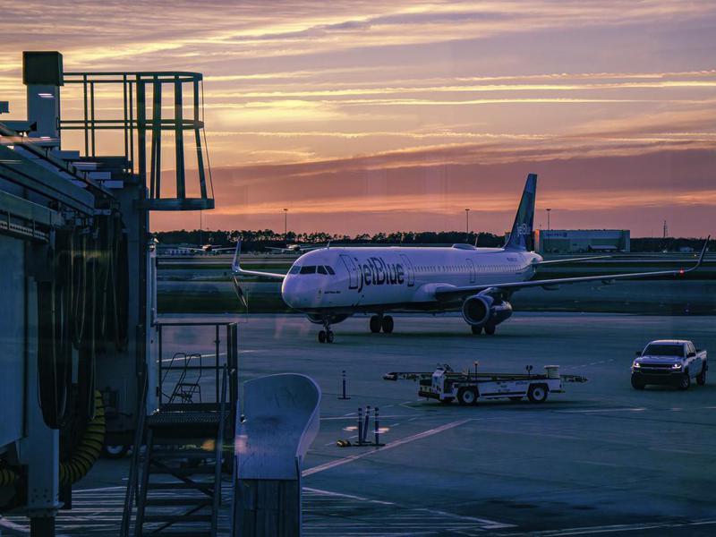 JetBlue airplane at Orlando International Airport