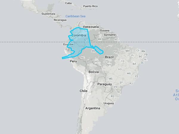 Alaska compared to South America
