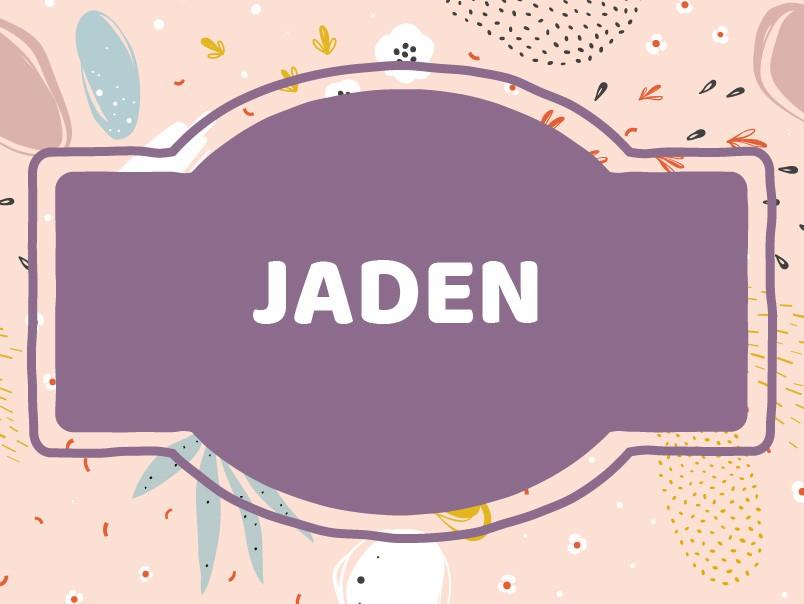 'J' Baby Boy Names: Jaden